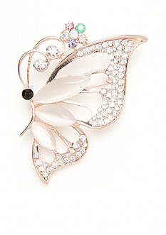 Kim Rogers Rose Gold-Tone Butterfly Pin