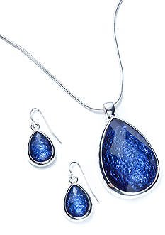 Kim Rogers® Teardrop Pendant Necklace and Earring Boxed Set