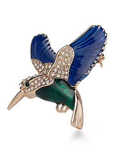 Kim Rogers Gold-Tone Hummingbird Boxed Pin