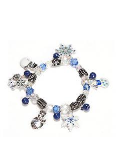 Kim Rogers Silver-Tone Snowman Charm Bracelet