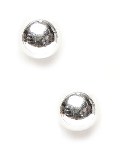 Napier Polished Silver-Tone Ball Pierced Earring