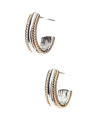 Napier Silver-Tone Diameter Hoop Earrings