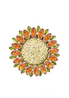 Napier Boxed Sunflower Pin