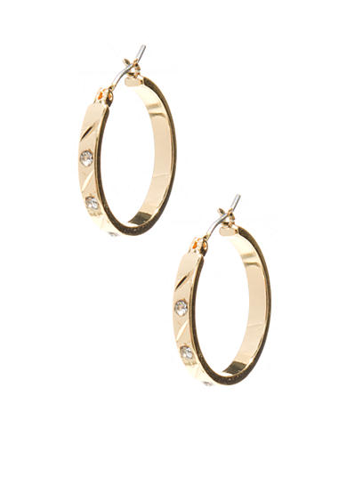 Napier Pierced Hoop Earrings
