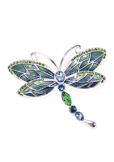 Napier Silver-Tone Blue Dragonfly Boxed Pin
