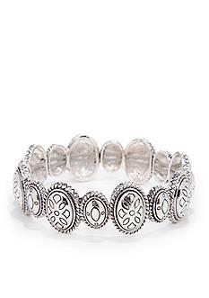 Napier Silver-Tone Stretch Bracelet