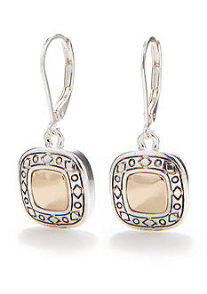 Napier Small Leverback Drop Earrings