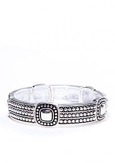 Napier Antiqued Silver-Tone Stretch Bracelet