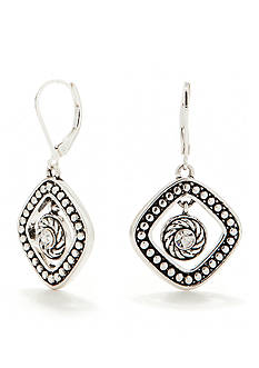 Napier Diamond Shaped Orbital Earrings