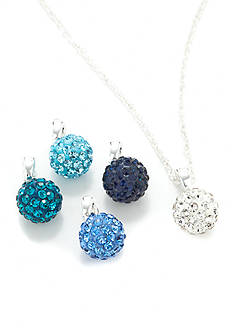 Napier Blue Interchangeable Pave Pendant
