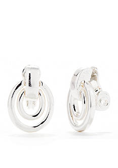 Napier Door Knocker Clip Earrings