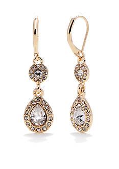 Napier Gold-Tone Leverback Drop Earrings