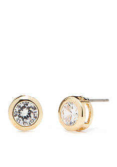 Napier Gold-Tone and Bezel Stud Earrings