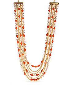Napier Color Journey Multistrand Collar Necklace