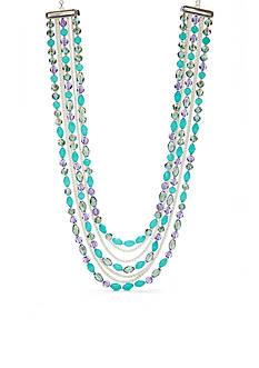 Napier Color Journey Multistrand Collar Necklace