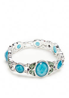 Napier Silver-Tone Wishful Thinking Blue Link Boxed Bracelet
