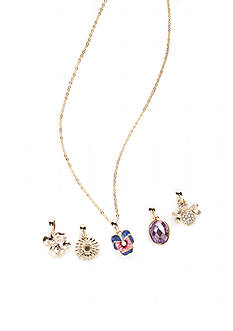 Napier Gold-Tone Spring Charms Changeable Necklace Boxed Set
