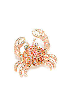Napier Gold-Tone Coral Crab Boxed Pin