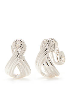 Napier Chain Knot Clip Earrings
