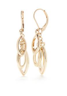 Napier Golden Weave Chandelier Earrings