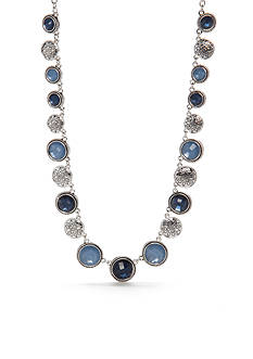 Napier Silver-Tone Blue Collar Necklace