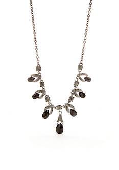 Napier Hematite-Tone Frontal Necklace