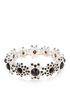 Napier Silver-Tone Holiday Wishes Stretch Bracelet