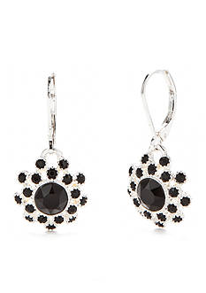 Napier Silver-Tone Holiday Wishes Swarovski® Drop Earrings