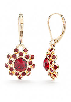 Napier Gold-Tone Drop Earrings
