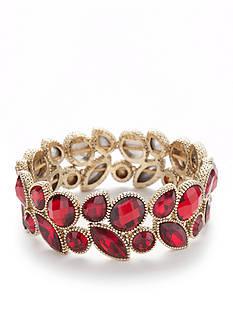 Napier Gold-Tone Two Row Stretch Bracelet