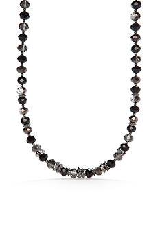 Napier Hematite-Tone Beaded Collar Necklace