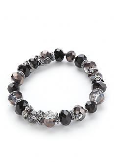 Napier Hematite-Tone Beaded Stretch Bracelet