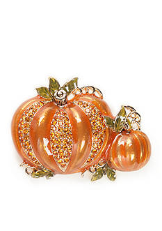 Napier Gold-Tone Double Pumpkin Boxed Pin