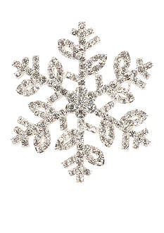 Napier Silver-Tone Snowflake Boxed Pin