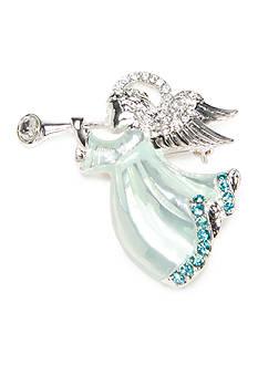 Napier Silver-Tone Winter Wonderland Boxed Angel Pin