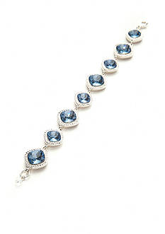 Napier Silver-Tone Blue Stone Boxed Bracelet