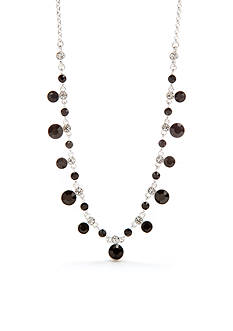 Napier Silver-Tone Nights Out Frontal Necklace