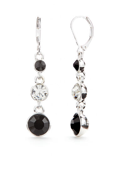 Napier Silver-Tone Nights Out Linear Drop Earrings
