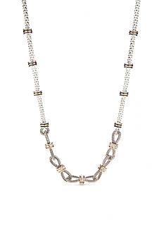 Napier Two-Tone Popcorn Chain Collar Necklace