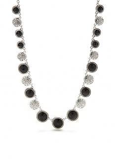 Napier Silver-Tone True Jet Collar Necklace