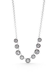 Napier Silver-Tone Color Declaration Crystal Frontal Necklace