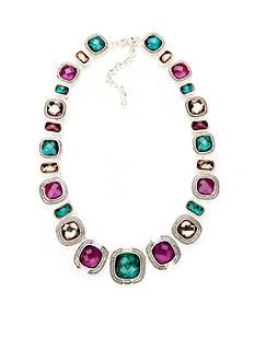 Napier Silver-Tone Modern Romance Collar Necklace
