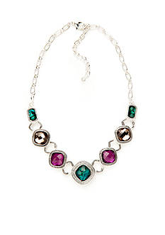 Napier Silver-Tone Modern Romance Frontal Necklace