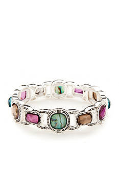 Napier Silver-Tone Modern Romance Stretch Bracelet