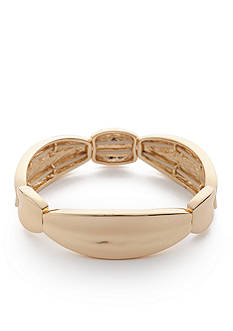 Napier Gold-Tone Oscar Stretch Bracelet