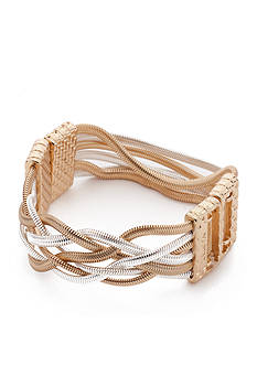 Napier Multi-Tone Metal Stretch Bracelet
