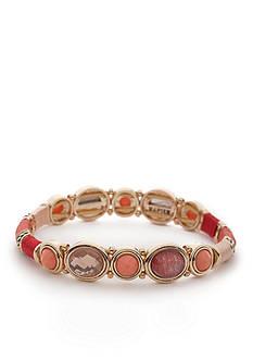 Napier Gold-Metal Global Journey Stretch Bracelet