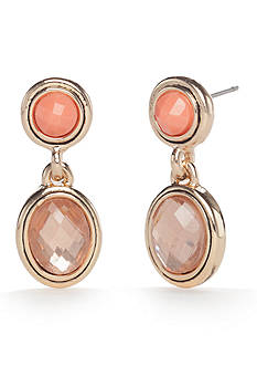 Napier Gold-Tone Global Journey Drop Earrings