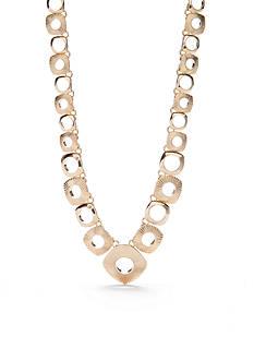 Napier Gold-Tone Golden Ridge Collar Necklace