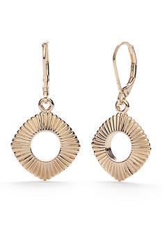 Napier Gold-Tone Golden Ridge Drop Earrings
